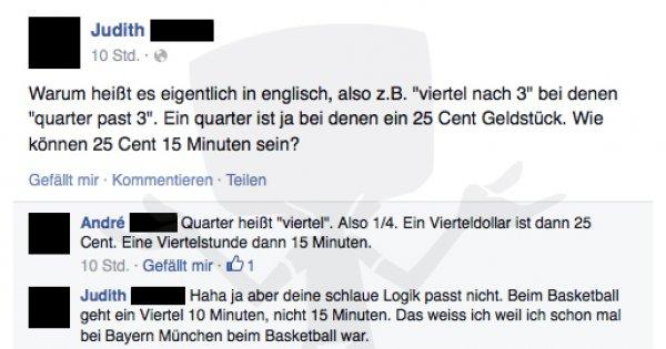 Mathe als Fremdsprache - Facebook Fail des Tages 06 12 2014
