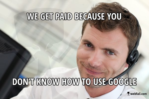 it support in a nutshell   meme picture webfail   fail