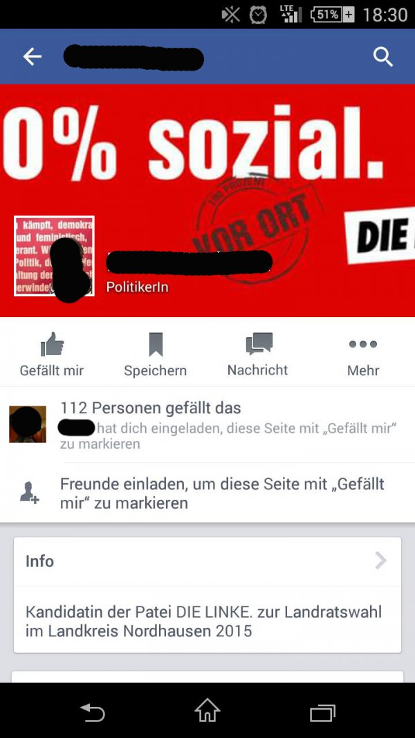 dieser moment wenn die mobile facebook ansicht deinen wahlkampf zerst rt fail bild webfail. Black Bedroom Furniture Sets. Home Design Ideas