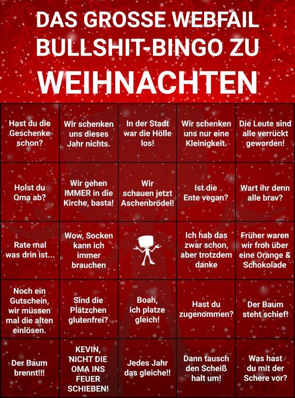 Bullshit-Bingo zu Weihnachten | Webfail - Fail Bilder und Fail Videos
