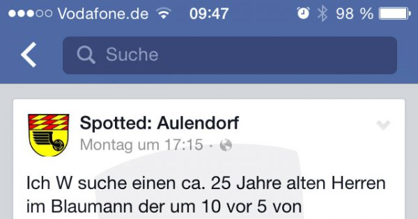 Personensuche Facebook