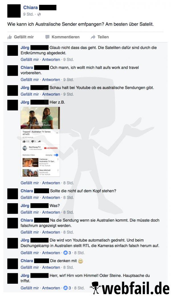 Australien Steht Kopf Facebook Fail Des Tages 03 01 2017 Webfail