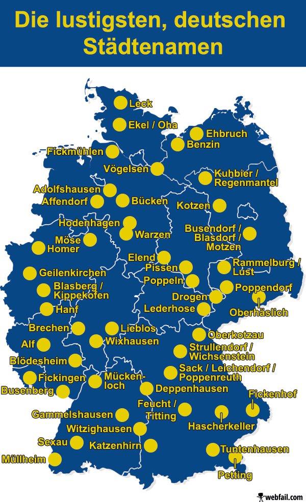 Lustige Deutsche Ortsnamen