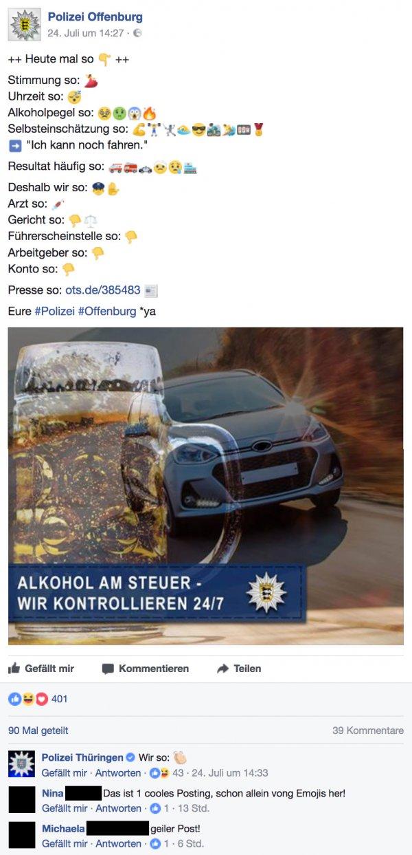 Die Polizei Offenburg so