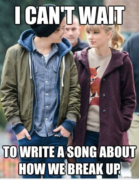 Funny Meme Break Up : Taylor swift and harry styles meme picture webfail