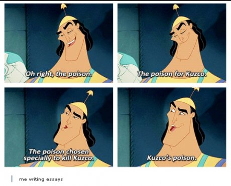 When writing an essay