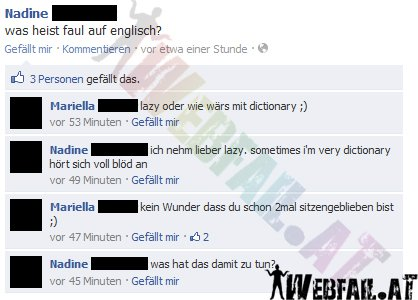 Faul Auf Englisch