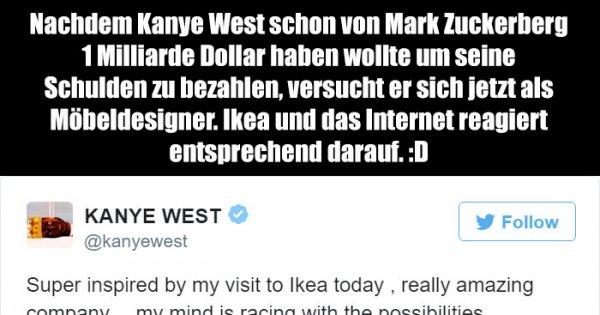 Schreibtisch Ikea Micke Gebraucht ~ Ikea und das Internet verarscht Kanye West  Webfail  Fail Bilder und