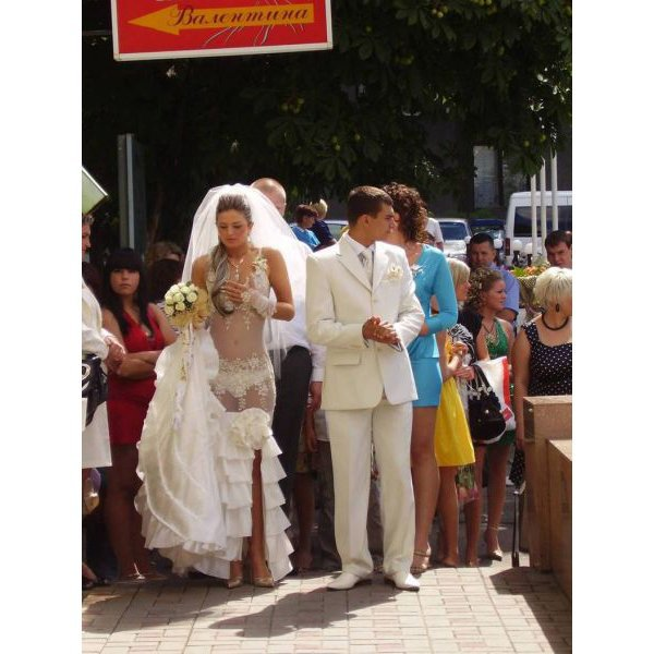 Wedding dress fail