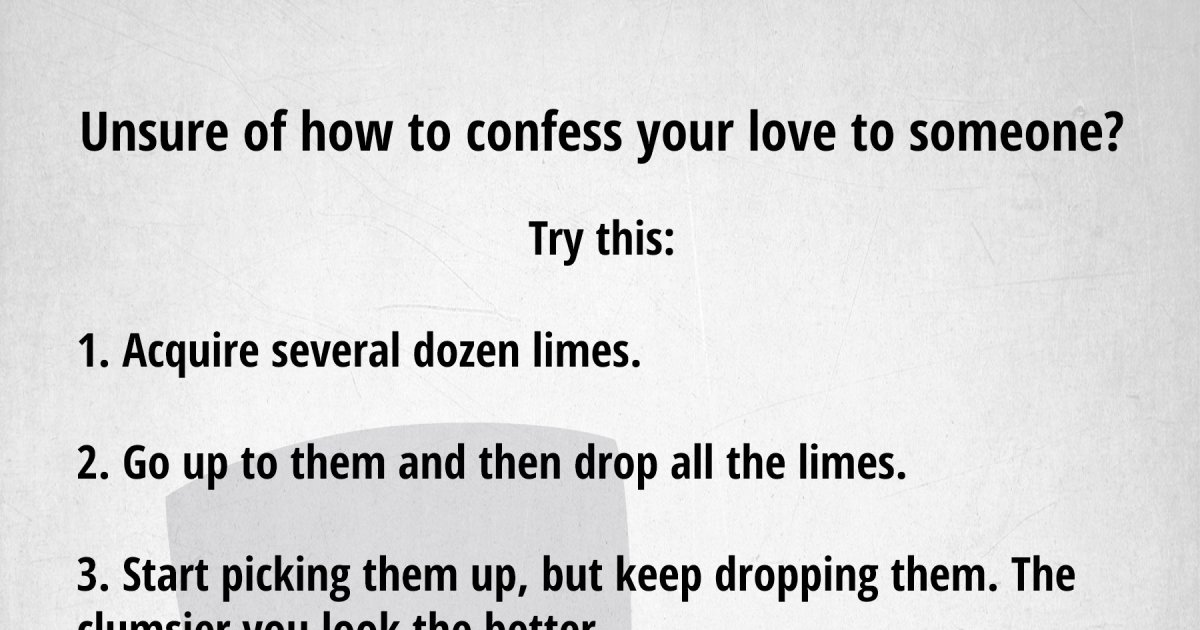 Letter To Confess Your Love