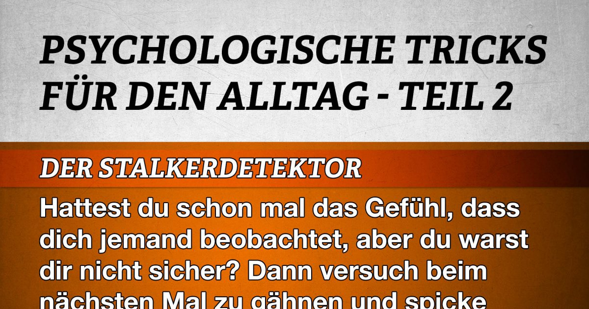 psychologische tricks