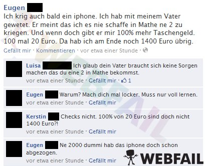 Mach dich mal locker - Facebook Fail des Tages 05.05.2012 | Webfail