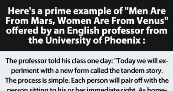Der Beweis: Männer sind vom Mars, Frauen von der Venus