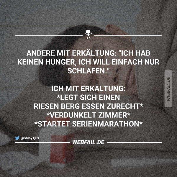 hunger bei erkältung
