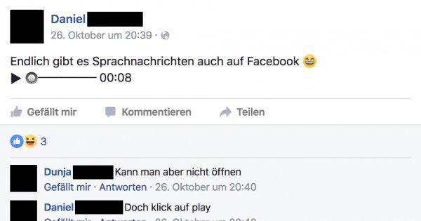 facebook sprachnachrichten