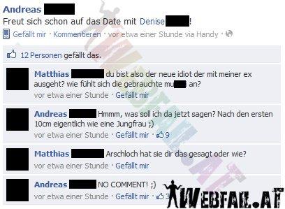 freut sich schon auf das date - facebook win des tages 26.01.2012
