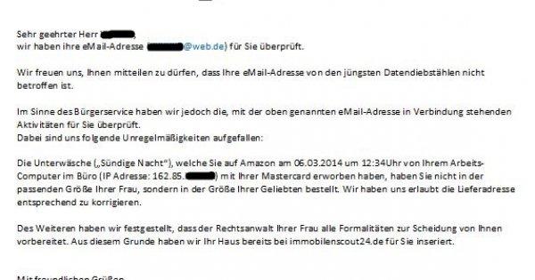 sicher email adresse