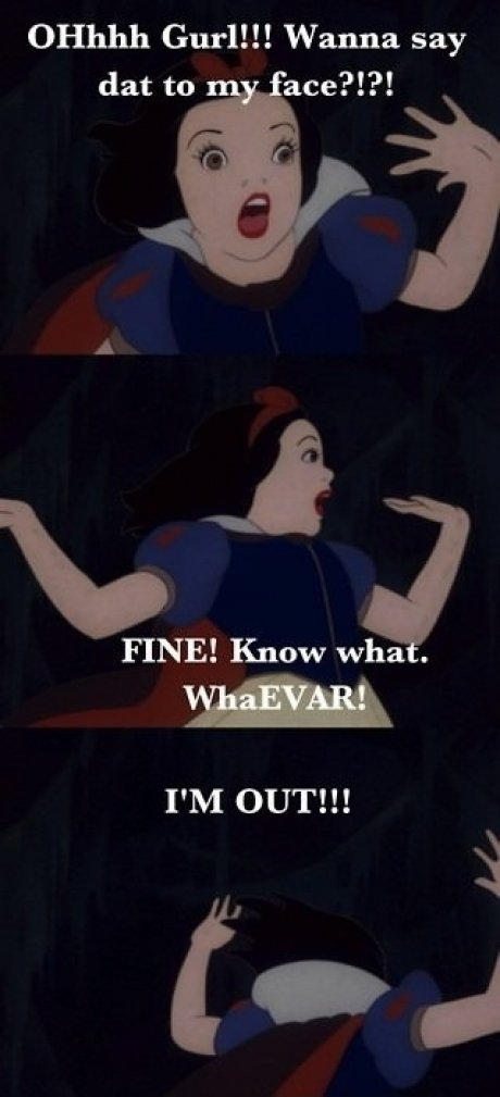 Funny Meme Disney : Snow white freaks out meme picture webfail fail