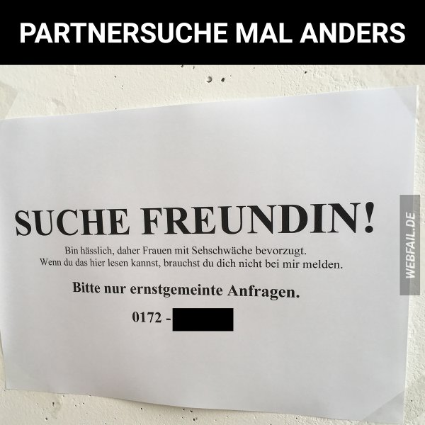 Partnersuche mal anders